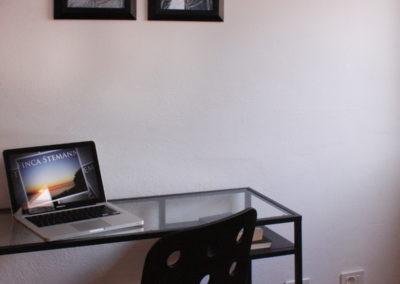 0510 Casa Isabel Schlafzimmer 2, für Leute die auch im Urlaub noch arbeiten wollen